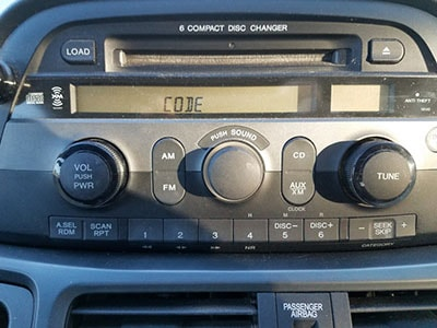 enter isuzu  radio code