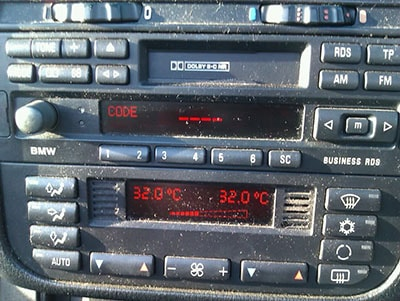 enter land rover  radio code