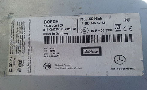 bosch radio serial number