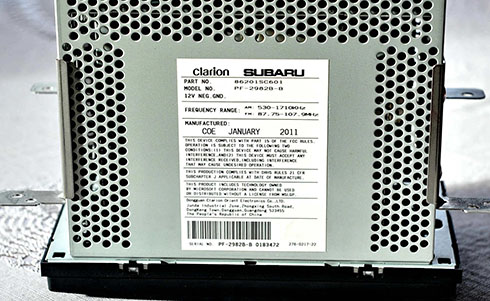 clarion serial number