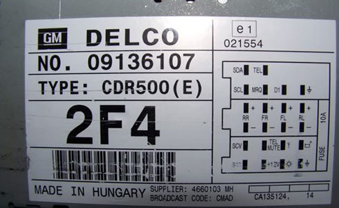 delco radio serial number