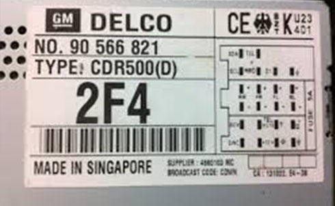 delco serial number