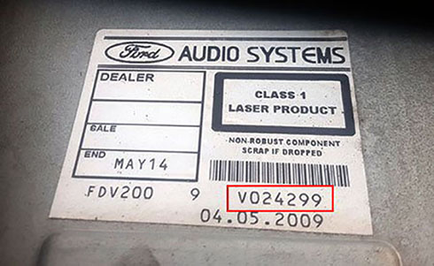 ford serial number