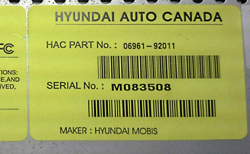 hyundai auto et serial number