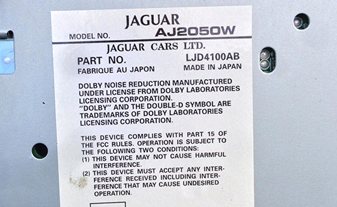 jaguar serial number