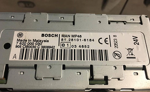 man radio serial number
