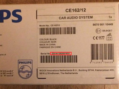philips radio serial number