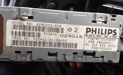 philips serial number