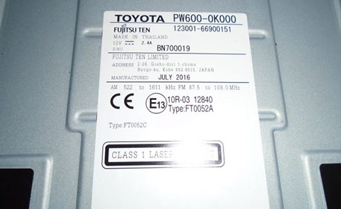 toyota serial number