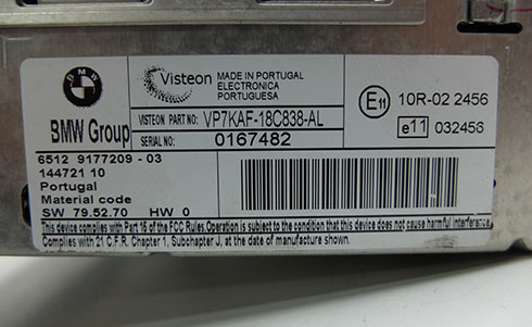 visteon serial number