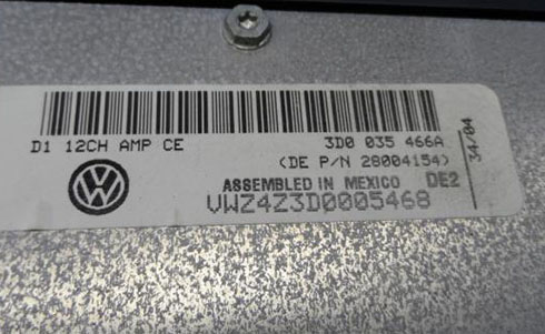 volkswagen serial number